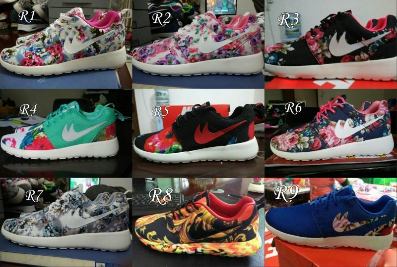 low priced aa10d c2213 roshe run with flowers 2015 roshe run floral flower black blue pink