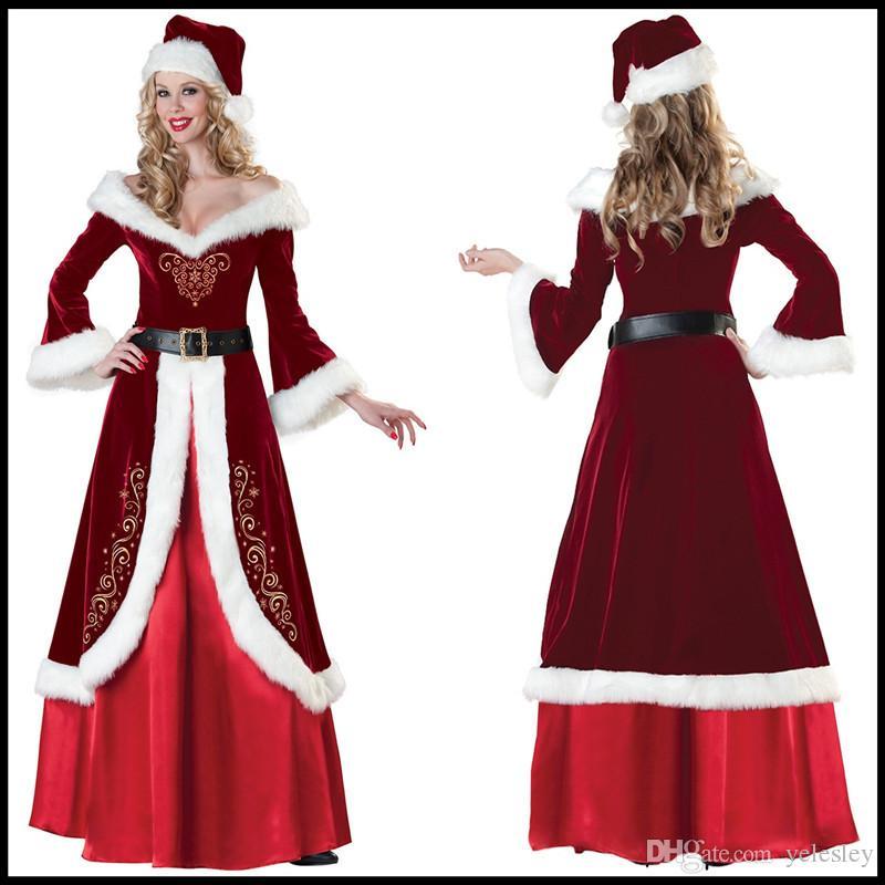 Maskot Noel kraliçe prenses etek kostüm kap performans elbise Cadılar Bayramı Ren Geyiği Hayvan Rol Oynama Hizmet Noel Partisi elbise