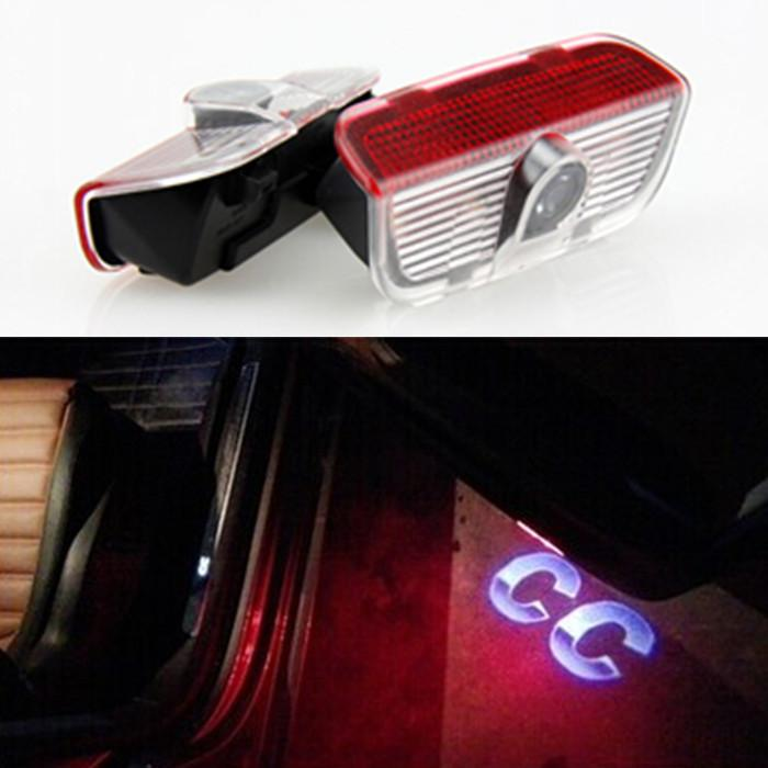2019 2X LED Door Warning Light With VW Logo Projector For