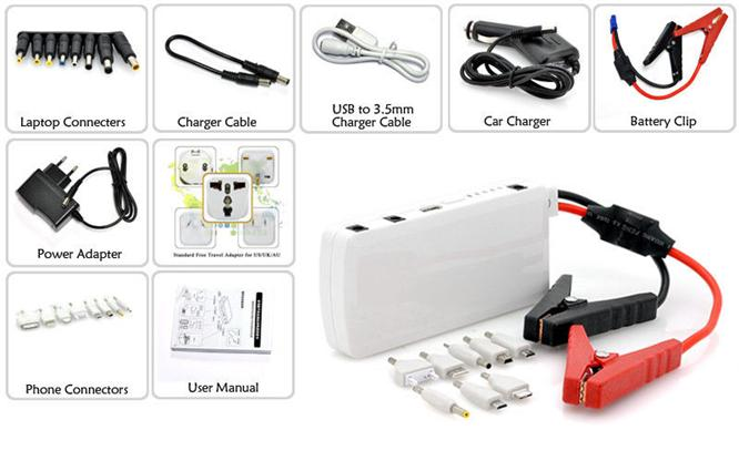 12000mAH Smart mini multifunctional Emergency Car engine start battery charger charging power bank car jump starter