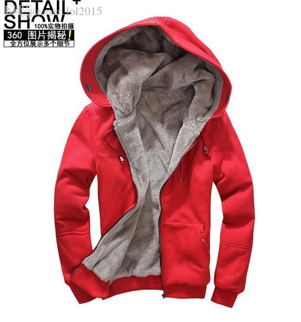 12f10b5c4dc6 2019 Wholesale Top Brand With Thick Fleece Hoodies Men 2015 Fashion Men'S  Heavy Hoodie Jacket Sweatshirt Coat With Fur Sherpa Lining Plus From  Odeletta, ...
