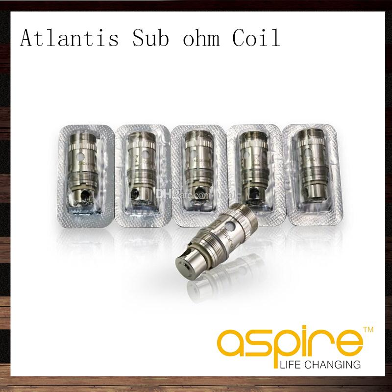 Aspire Atlantis Sub Ohm Cewka 0.3OHM 0.5OHM 1.0 OHM Atlantis Wymiana Cewka do Atlantis 2 Zbiornik Atlantis Mega Tank 100% Original