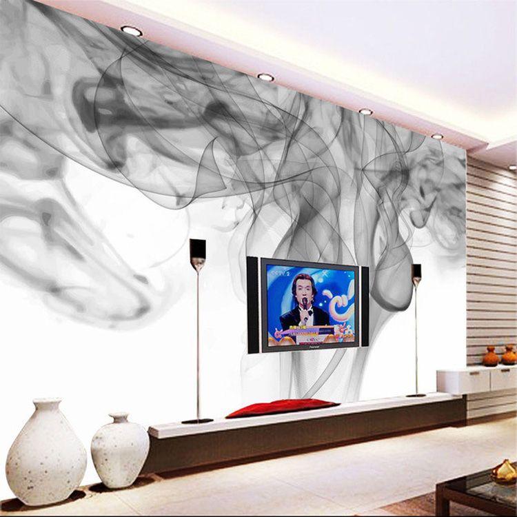 Smoke Blue Wall Decor : Fantasy smoke fog wallpaper personalized custom d photo