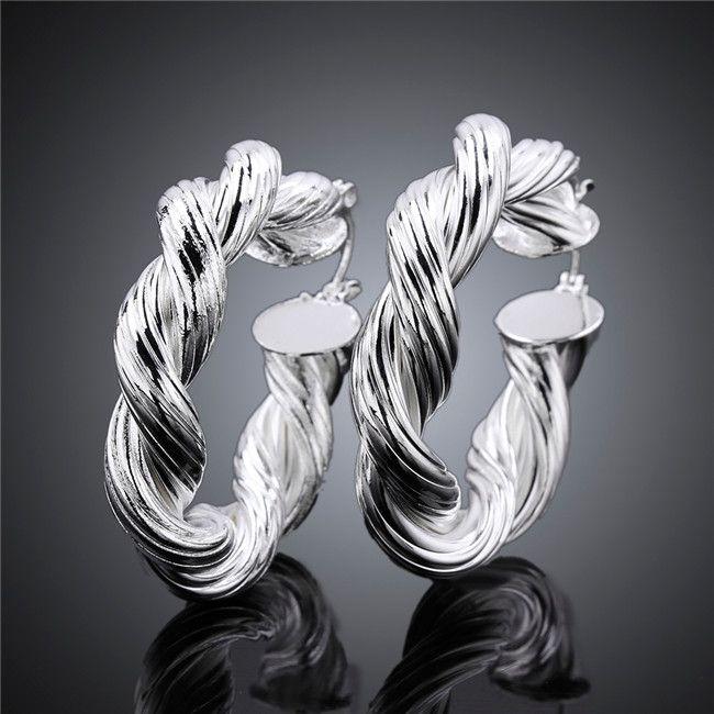 أعلى جودة 925 الفضة الاسترليني مطلي طارة الأقراط الأزياء والمجوهرات حفلة عيد ميلاد حرية الملاحة