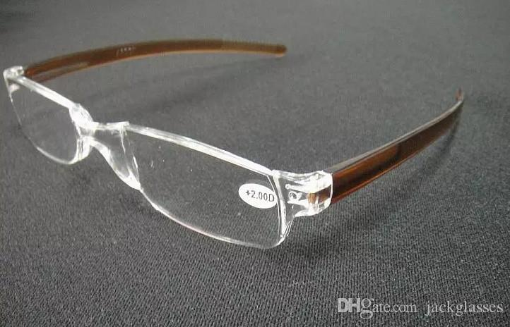 20 pçs / lote colorido inquebrável lupa transparente óculos de leitura / óculos de leitura de plástico / pc óculos de leitura