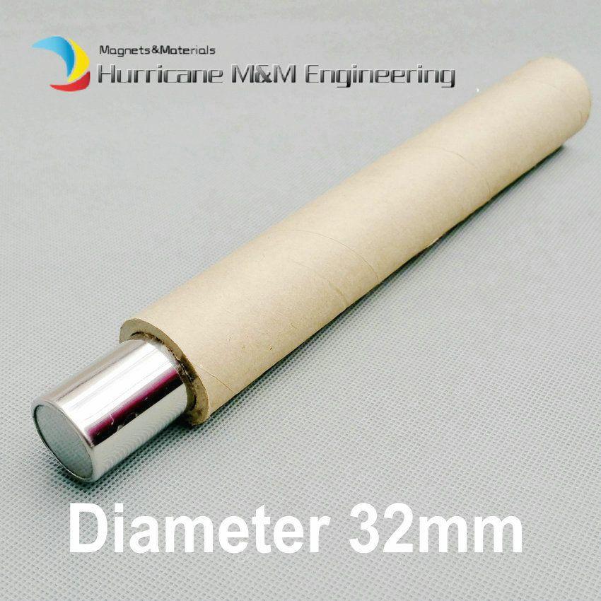 NdFeB Magnetstab Dia. 32x300 mm ca. 1,26 '' x 11,81 '' 6K-12K GS Zylinderfilter Starker Neodym-Magnet Edelstahl 304 Eisenentfernung