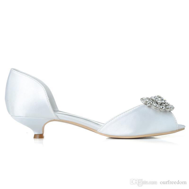 0700-03 2019 Свадебная обувь на заказ с открытым носком 3.5 см на низком каблуке для выпускного вечера Женская обувь 2019 Новый