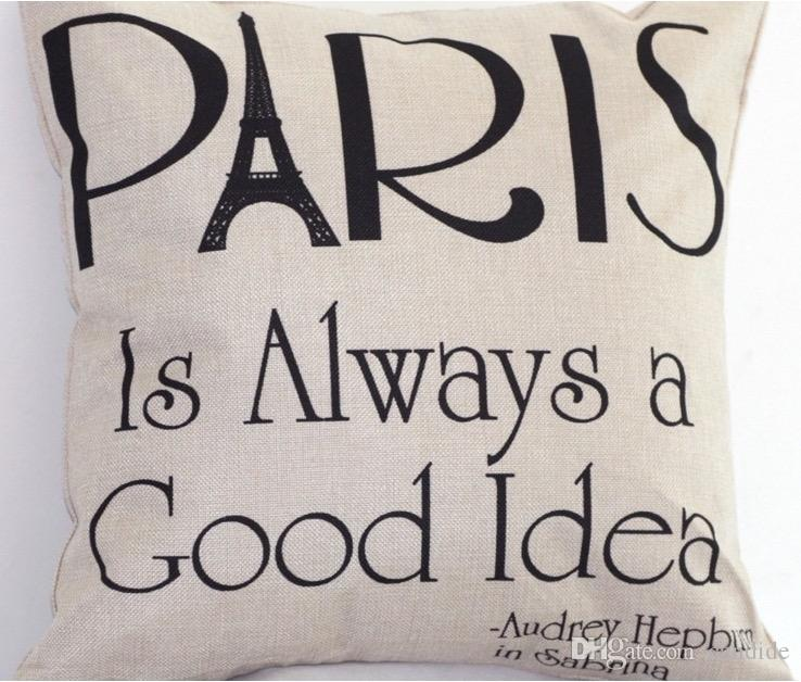 Paris Is Always A Good Idea Pillow Audrey Hepburn Celebrate Dictum