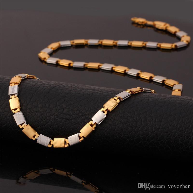 Collana in oro placcato oro rosa 18 kt unisex in oro 18 kt con platino placcato oro