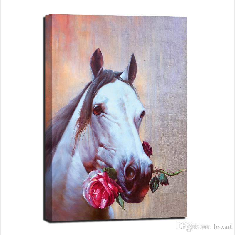 2018 Wall Art Horses, Animal Canvas Art Horse Head Canvas Wall Art ...