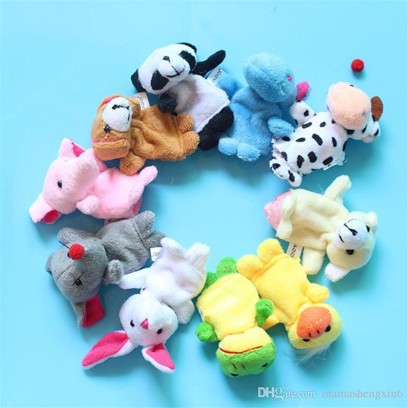 Nuevo Bebé de Juguete de Felpa Marionetas de Dedo de la Mano Hablando Apoyos Ayudantes 10 Juego de Juego de Grupo de Animales para Niños Mini Animal Dedo de Bebé Regalos