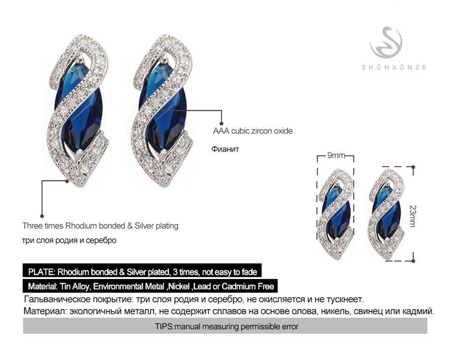 Ограниченная по времени скидка бестселлеры Рождественский подарок любимый MN849 Винтаж синий цирконий сверкающих меди родием модные серьги