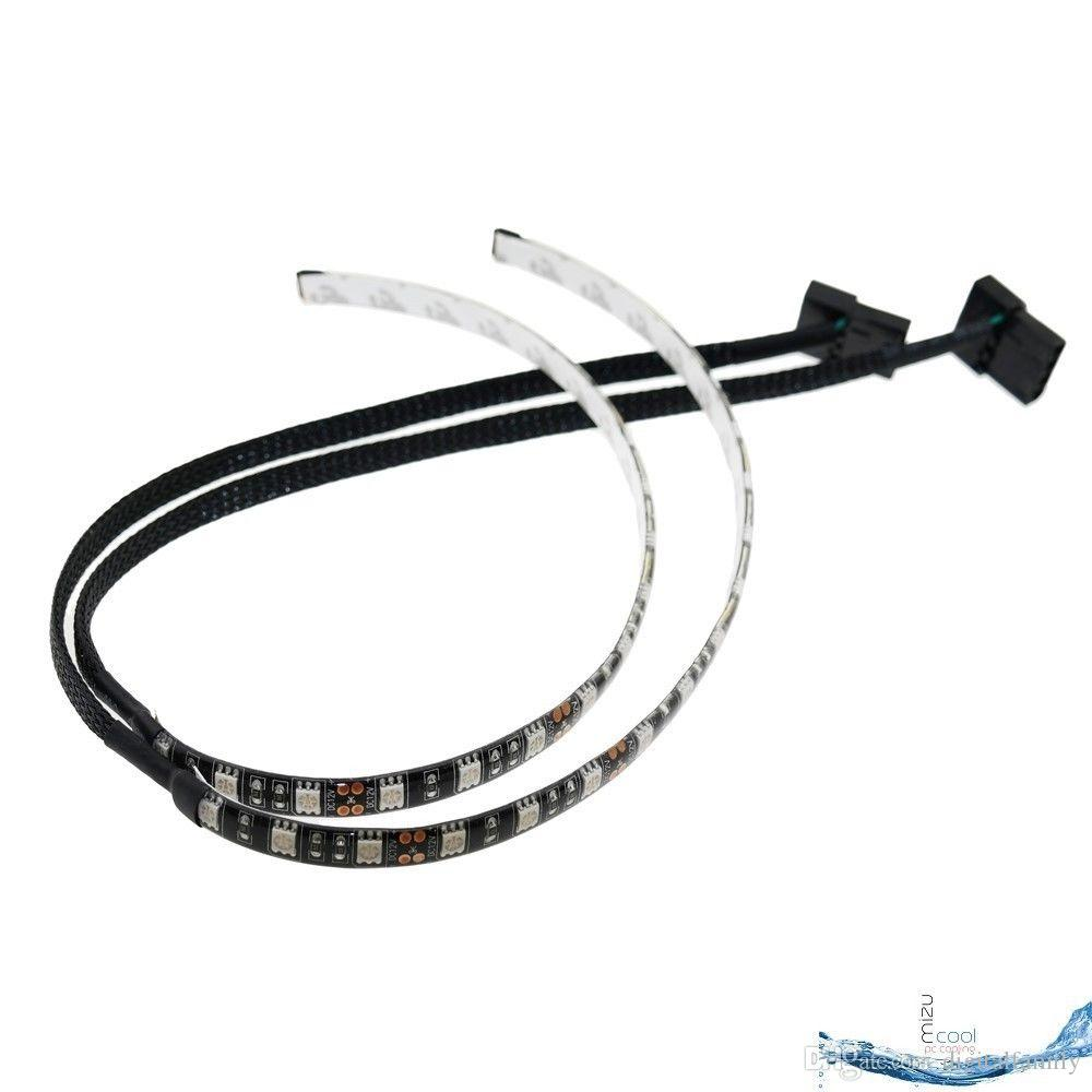 5050 SMD 30cm Red Blue White Green LED Strip Light for PC Computer Case Sleeved Cable Molex Connector 12V
