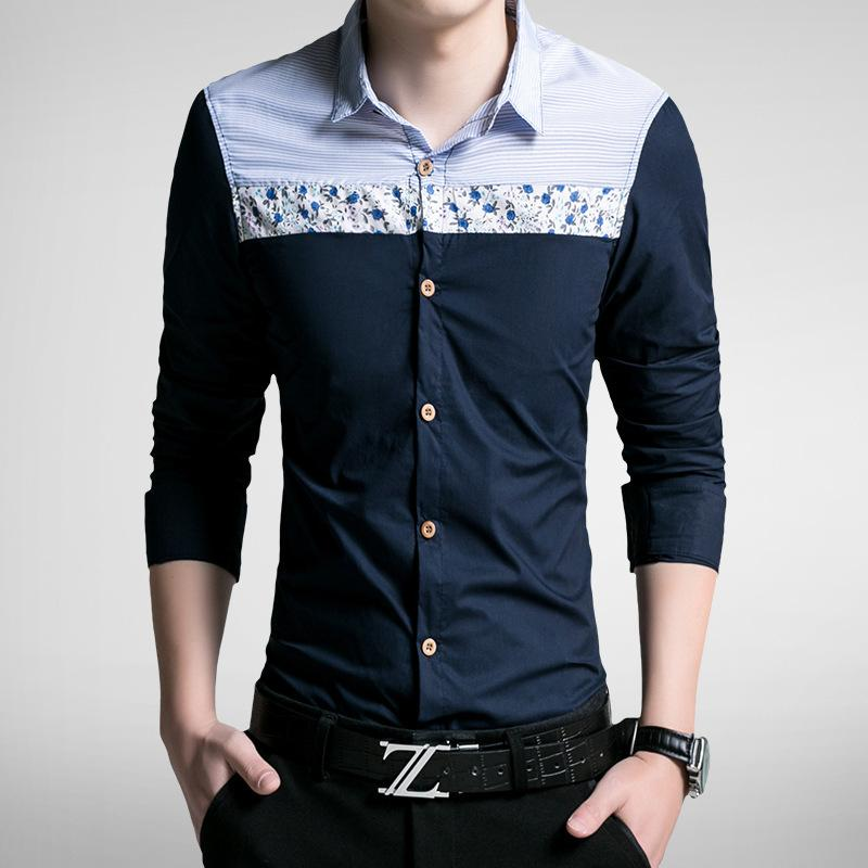 2017 elite 2015 Hot Sale Men'S Casual Shirts Long Sleeve Floral ...
