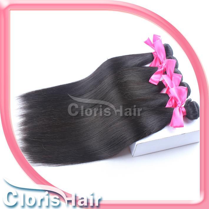 실키 스트레이트 버진 페루 헤어 짜다 처리되지 않은 100 % 천연 인간의 머리카락 확장 저렴한 페루 스트레이트 Weft 1 번들 100g / pcs