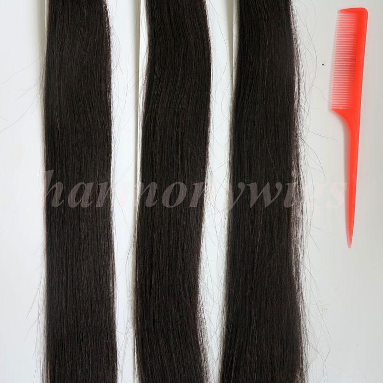 Предварительно связанный палки я чаевые бразильский человеческих волос 100G 100пряди 18 20 22 24 дюймовый #1В/выкл черный индийские волосы продукты