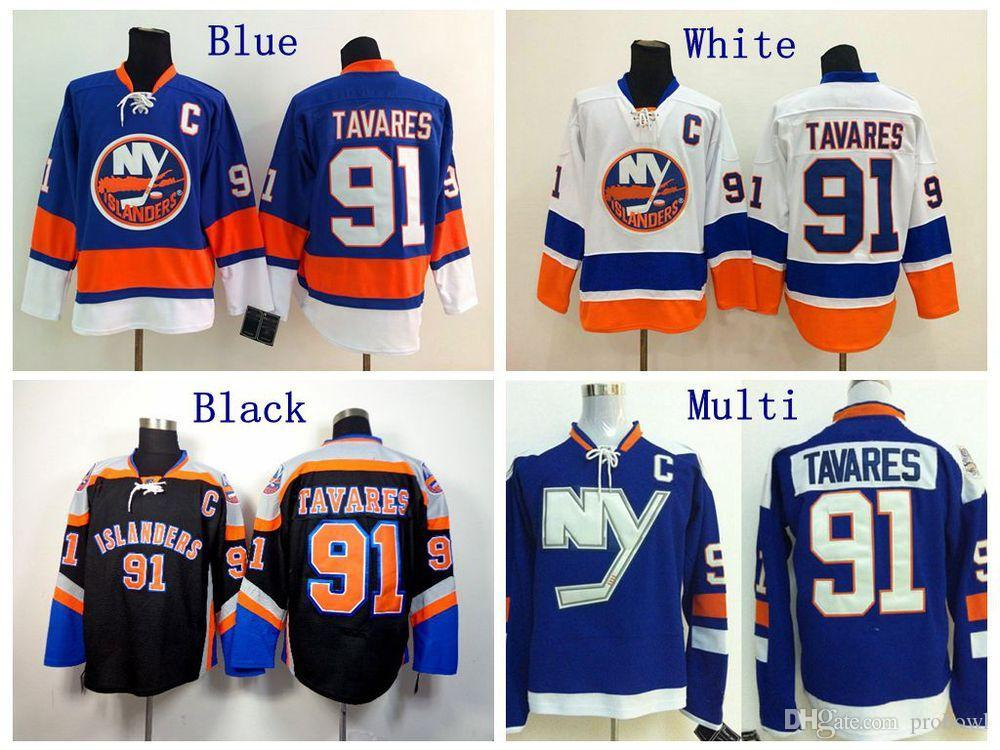 511c6753f Cheap #91 John Tavares Jersey New York Islanders Hockey Jerseys Blue ...