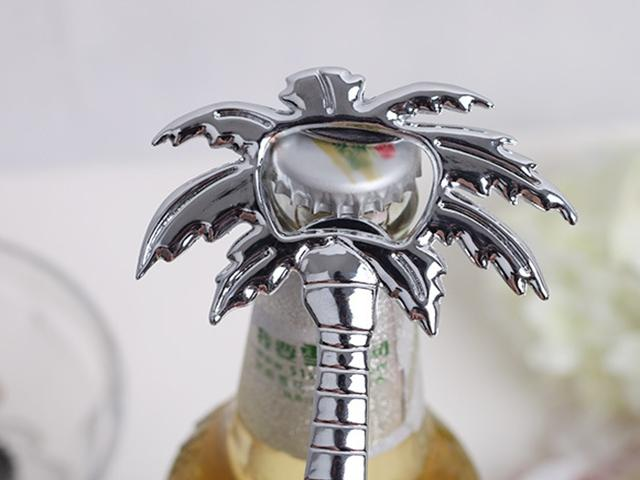 """Fedex DHL """"Palm Breeze"""" Chrome Palm Tree Bottle Opener wedding Party Gifts ,/"""