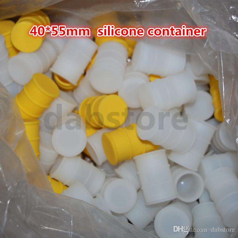 Wholesale Drums silicone container 100% Food-grade Silicone Nonstick Wax Containers Silicone Cases In dry herbal E Cigarettes free DHL