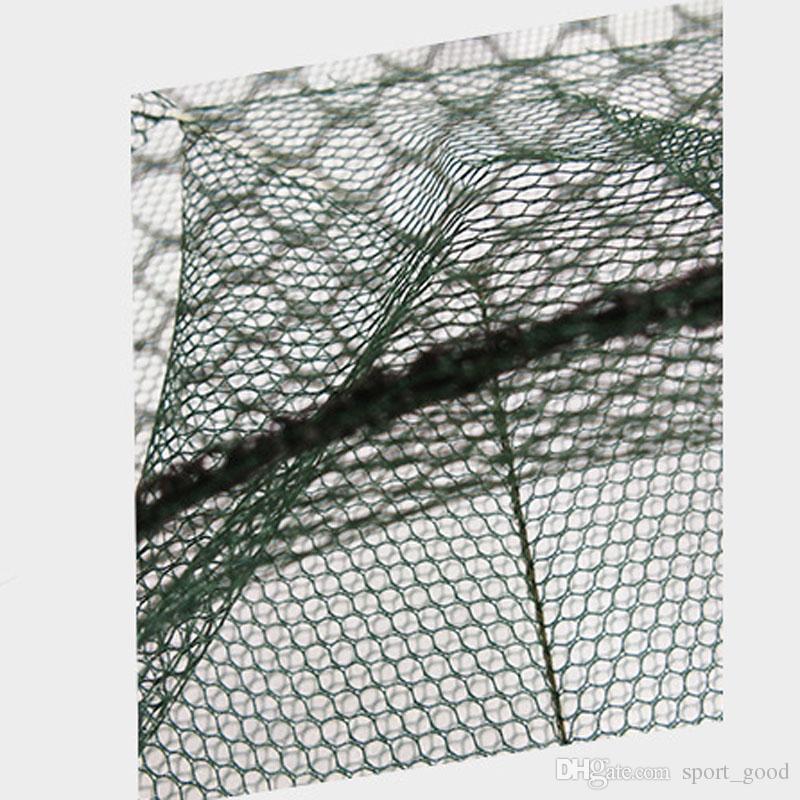 Automatic Pieghevole 6 8 Foro Pesca Pesca Pesce Gamberetti Gamberetti Cage Nylon Pieghevole Pesce Pesce Trappola Cast Cast Cast Fishing Accessori Network Cage