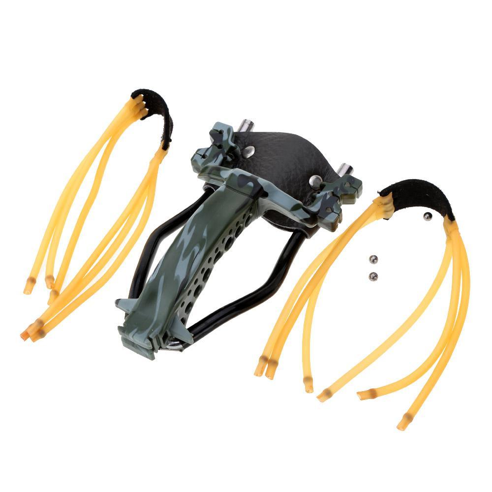 2 고무 밴드 접는 손목 슬링 샷 투석기 야외 게임 강력한 위장 사냥 투석기 화살 공구