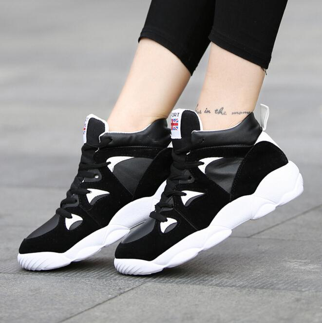 a1aa8090d44 Women Platform Sneakers Microfibre Suede Leather Casual Sport Shoes For  Womens Korean Style Fashion Woman Gym Shoes 35 40 Retail H409 Walking Shoes  Flat ...