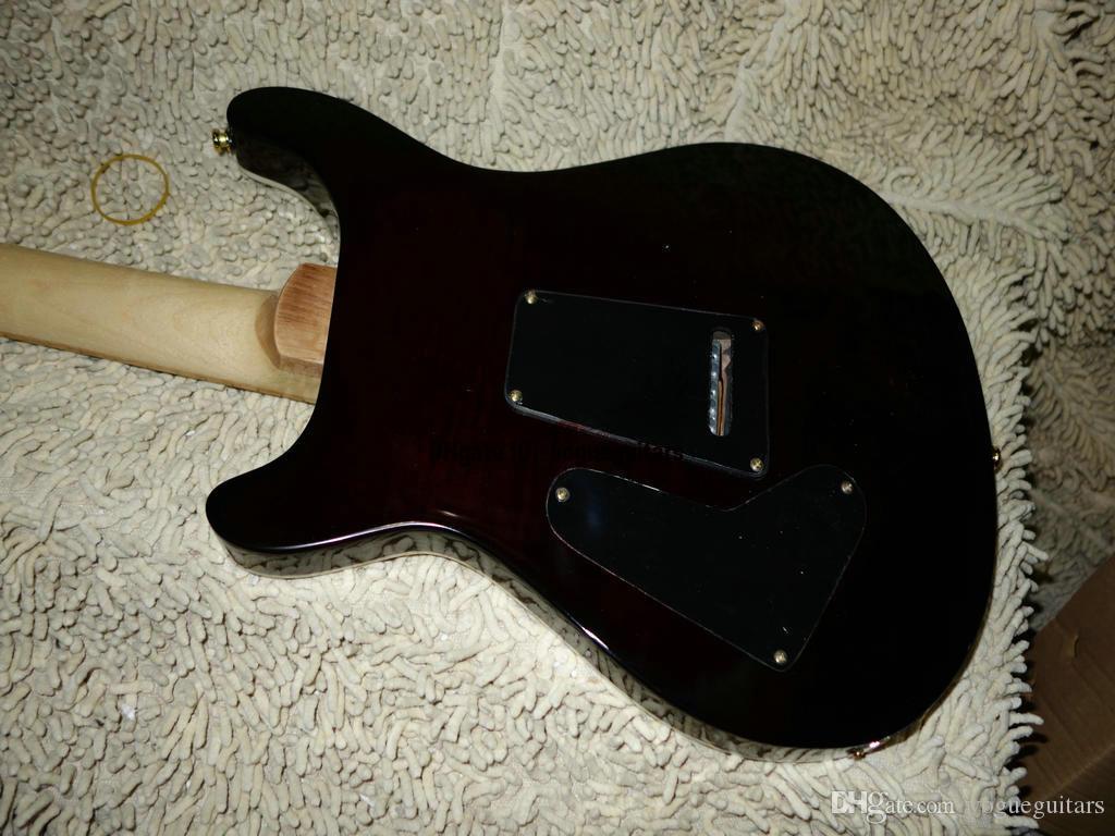 하드 케이스 메이플 지판과 함께 새로운 도착 맞춤 쇼핑 SE 기타 브라운 일렉트릭 기타