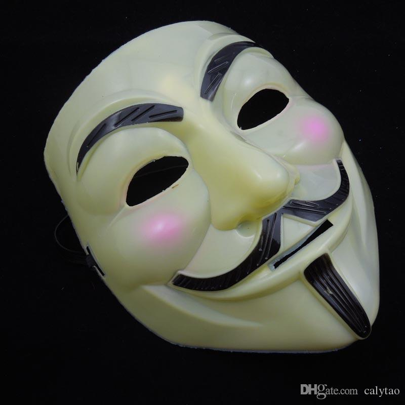 Halloween Mask V Mask for Vendetta Guy Fawkes Scary Fancy Dress Hip Hop Costume Full Face Party Mask Cosplay Anonymous Prop