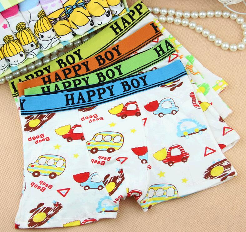Cute Cartoon Boys Underwear Brief Small Cars Cotton Baby ...