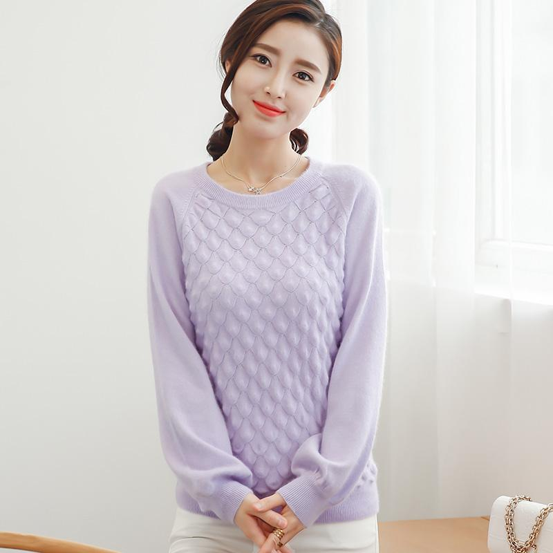 5d2578ad5d 2019 Wholesale 100% Cashmere Sweaters And Pullover For Women 2016 Winter  New O Neck Sweater Hot Sale Tops Pure Wool Knitted Clothes Free Ship From  Harrvey