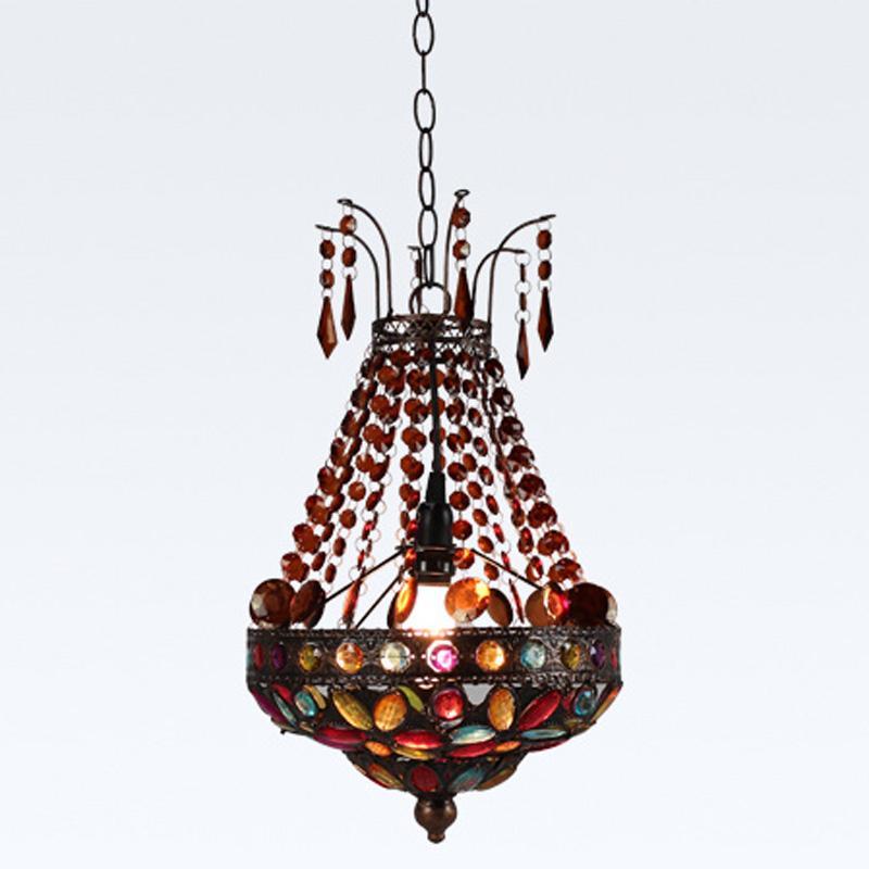 Bohemia Boncuk Balkon Sarkıt Klasik Vintage Yemek Odası Mutfak Kolye Işık Koridor Girişinde Kolye Işıkları