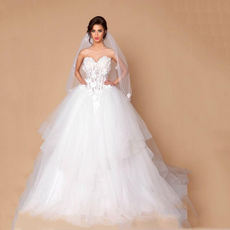 Low Waist Wedding Gowns: Discount 2016 Generous Wedding Dress Sweetheart Applique
