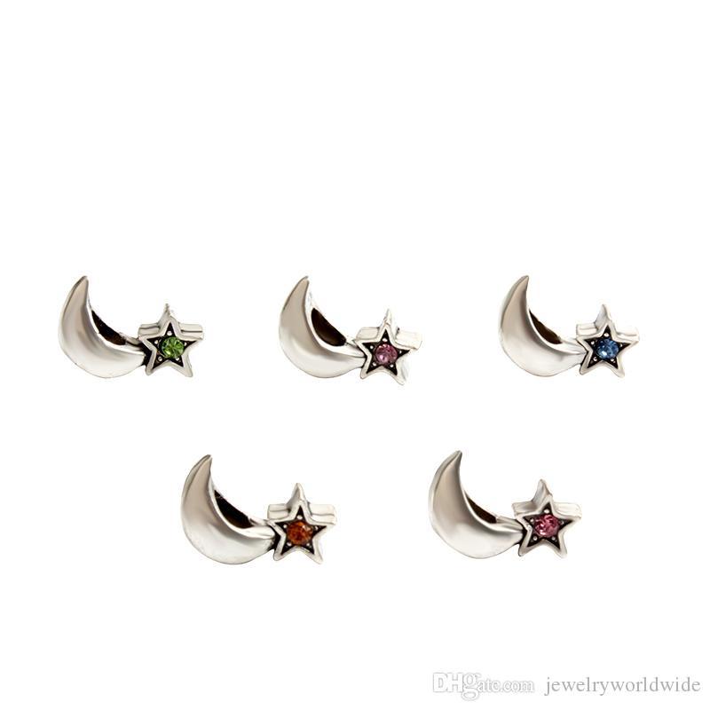 Star At Night Crystal Charm Bead Fashion Women Jewelry Stunning Design European Style For Pandora Bracelet