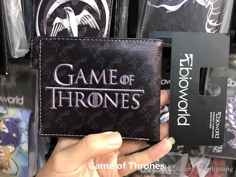Men Wallet Handmade game of thrones Stark Family ice Wolf Card Purse Slim Leather Purse Men Short Wallet Case