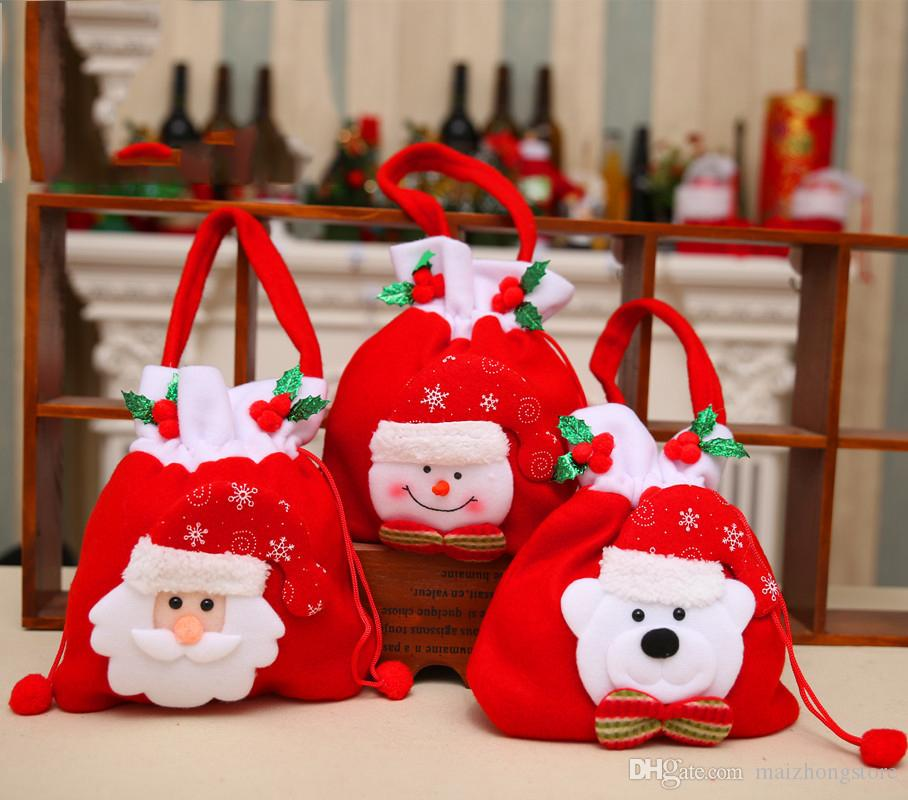 2018 2017 New Arrival Santa Claus Christmas Gift Bags Large ...