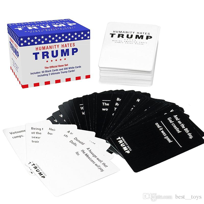 Humanity Hates Trump Card Game Base Game 200 White Cards 50 Black Cards All  Original Cards NOT in any Expansions IMMEDIATELY DELIVERY