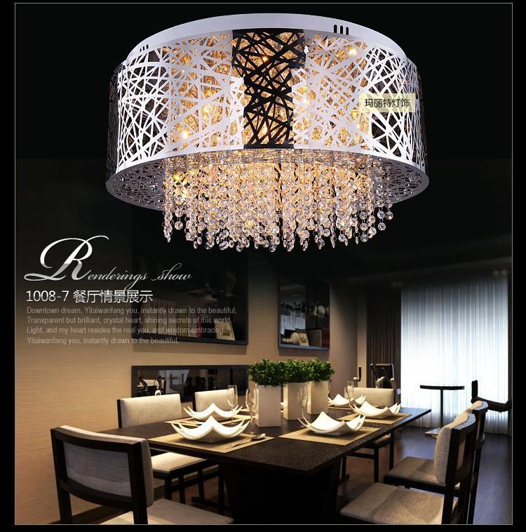 送料無料2015新しい到着新モダンな簡単な簡単な水晶シーリングライトLustres自宅の装飾屋内照明