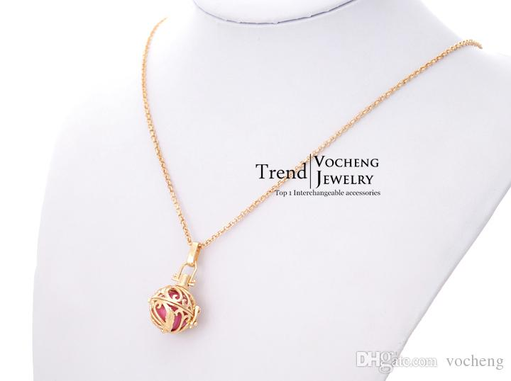 VOCHENG Chime Harmony Copper Metal Engelsrufer Pregnancy Ball in Pendants with Stainless Steel Chain VA-027