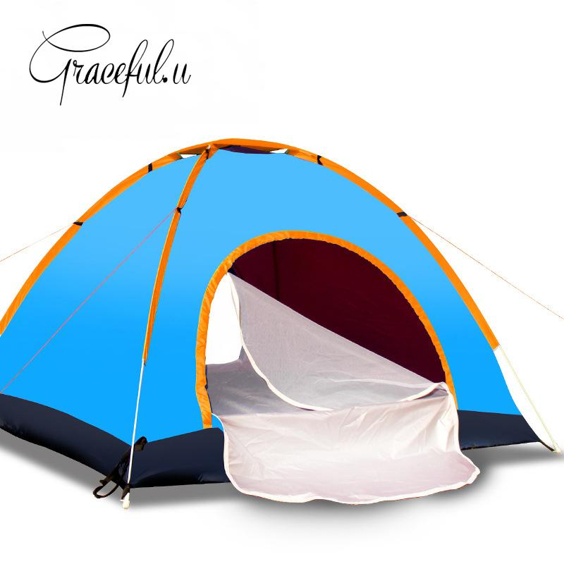 wholesale automatic tent 1 2 persons waterproof camping tent pop up