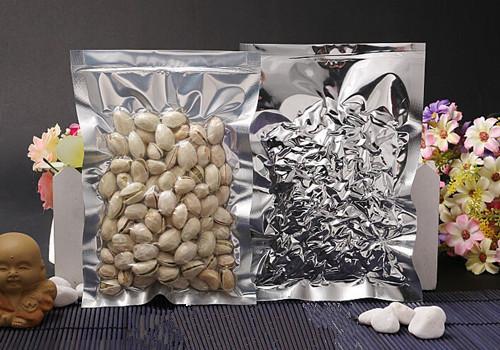 DHL 2000 Pz / lotto 7 * 10 cm Open Top Argento / Trasparente Sacchetto di Imballaggio di Alluminio Sottovuoto Sacchetto di Immagazzinaggio Alimentare Sacchetti Sacchetto di Calore Sacchetti di Imballaggio