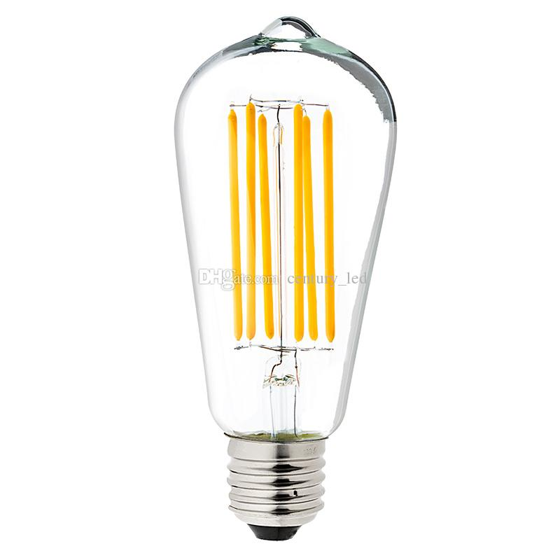 vintage led long filament bulb 8w warm white 2700k edison. Black Bedroom Furniture Sets. Home Design Ideas