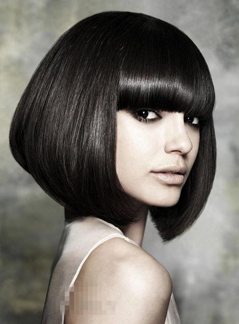gorgeous hair styles bob short silky straight natural black wig 12