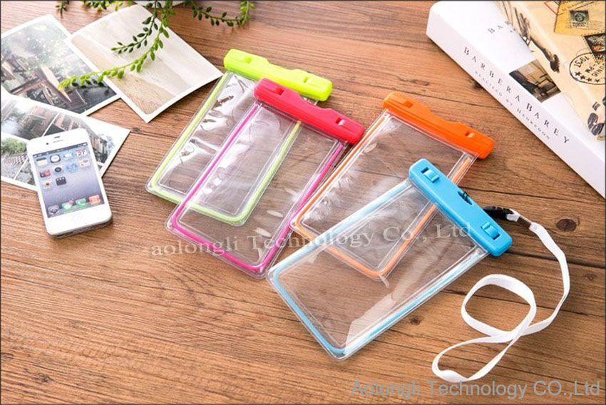 يونيفرسال مضيئة تحت الماء حقيبة الهاتف كيس ماء الحقيبة حقيبة الجافة لتغطية الهاتف الخليوي اي فون 5 6 زائد S6 حافة S5 ملاحظة 5