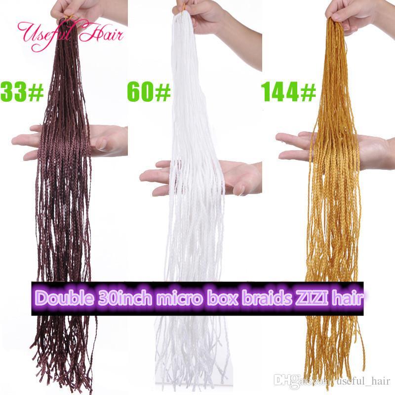wholesale cheap blonde hair extenions pre-loop box braids 60inch ZIZi synthetic braiding hair micro box braids marley hair african american