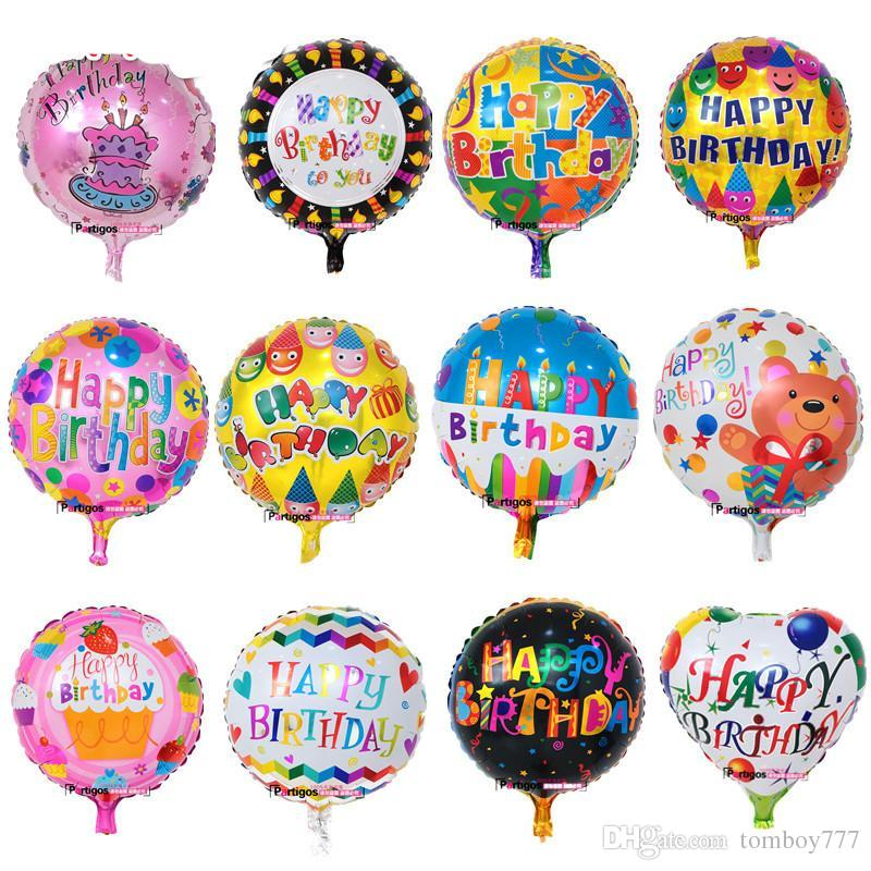 Globos Batch Happy Birthday Balloons Aluminium Foil Helium Mylar Baloon For Kids Party Decor Balloon Centerpieces From