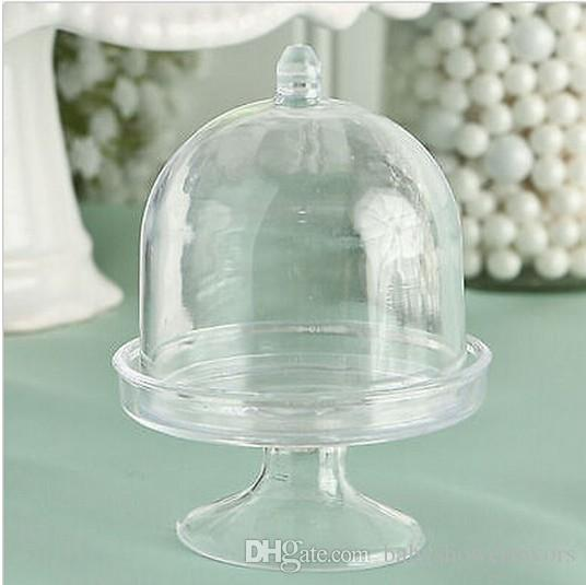 New Arrivals---Mini Clear Blue Cupcake Wedding Favor Boxes For Lovely Baby Shower Party Supplies