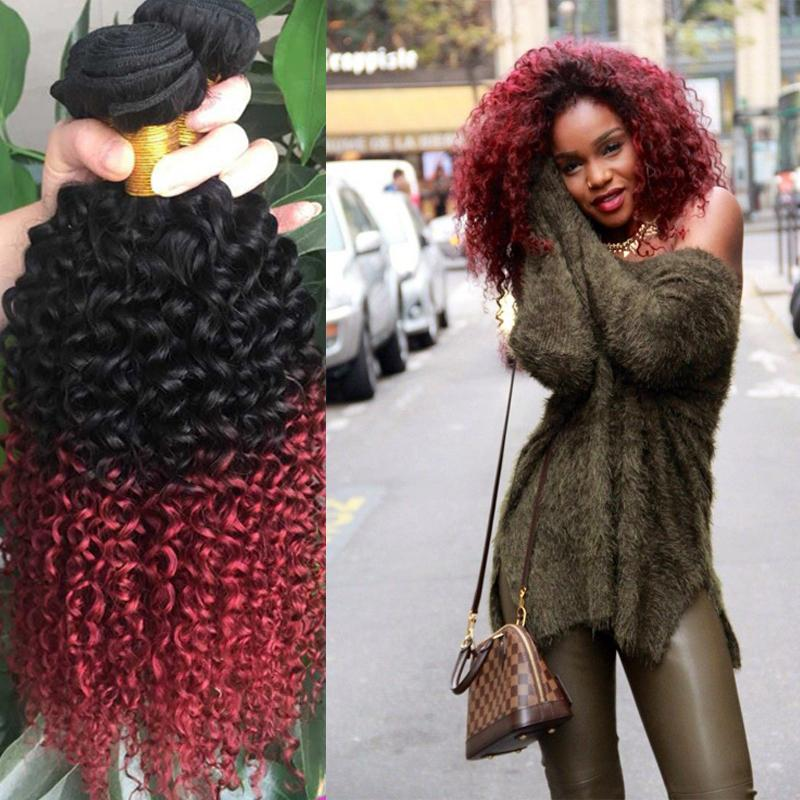 Cheap red malaysian curly ombre hair extensions 1b burgundy two cheap red malaysian curly ombre hair extensions 1b burgundy two tone remy human hair kinky curly weave malaysian hair red curly weave cheap hair wefts cheap urmus Images