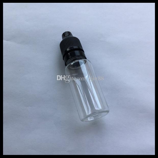 15ml Durchsichtige Plastik-E-Flüssigflasche mit kindersicherer Flaschen-Stöpsel-Kappe und langer dünner Spitzen-Tropfenzähler für Ejuice Oil