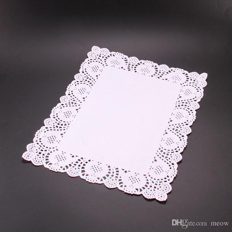 Торт бумаги бумаги кружева салфетки комбо пакет прямоугольник пекарня Совет бумаги салфетка коврик украшения бумаги лайнера 16 шт. пакет 4 Размер ассорти