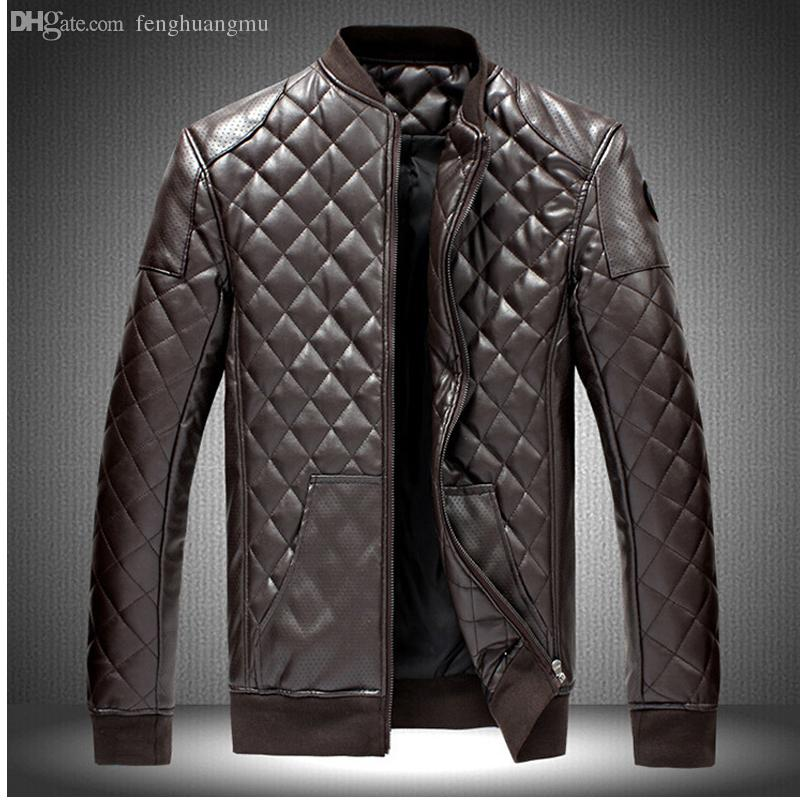 2018 Fall M 6xl New Men'S Leather Jacket Men Leather Jaqueta Couro ...